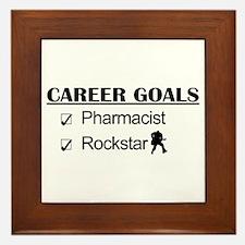 Pharmacist Career Goals - Rockstar Framed Tile