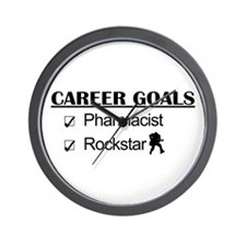 Pharmacist Career Goals - Rockstar Wall Clock