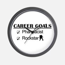 Pharmacist Career Goals - Rockstar Wall Clock