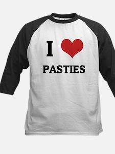 I Love Pasties Kids Baseball Jersey