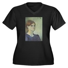 Self-Portrait, 1883 Women's Plus Size V-Neck Dark