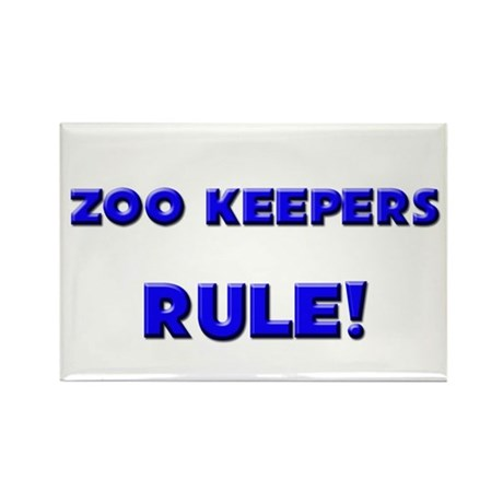 Zoo Keepers Rule! Rectangle Magnet (10 pack)