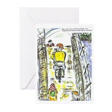 Blank Cards - Biker with Lattee