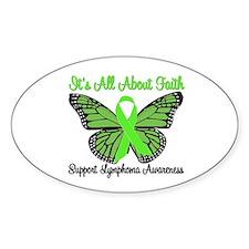 Faith Lymphoma Oval Sticker (10 pk)