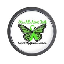 Faith Lymphoma Wall Clock
