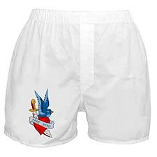 Free Bird Heart Knife Tattoo Boxer Shorts