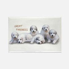 Great Pyrenees Rectangle Magnet, PuppyPower