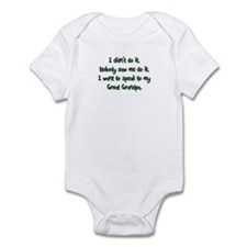 Want to Speak to Great Grandpa Infant Bodysuit