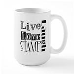 Live Love STAMP Large Mug