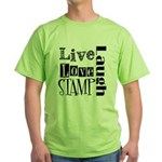 Live Love STAMP Green T-Shirt