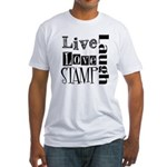 Live Love STAMP Fitted T-Shirt