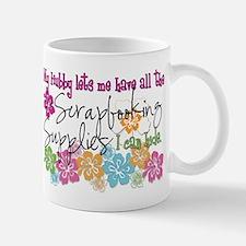 Scrapbooking Supplies I can H Small Small Mug