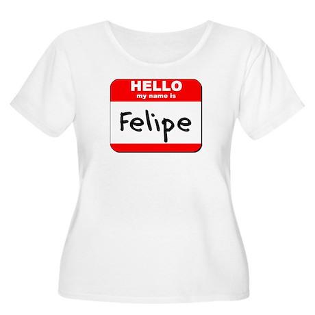 Hello my name is Felipe Women's Plus Size Scoop Ne