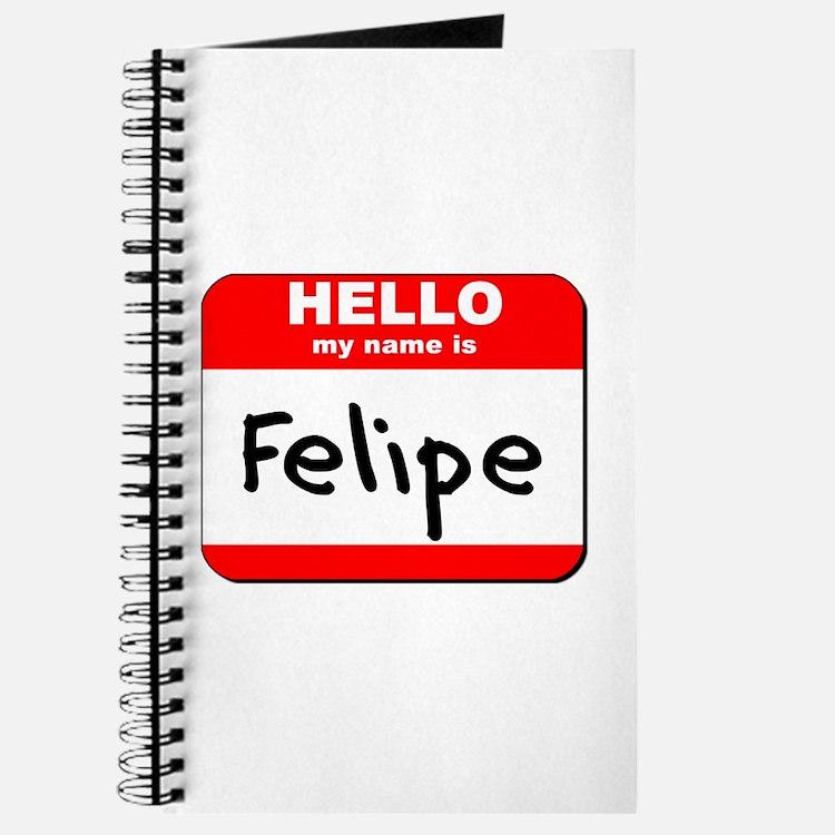 Hello my name is Felipe Journal