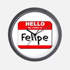 Hello my name is Felipe Wall Clock