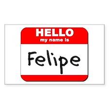 Hello my name is Felipe Rectangle Decal
