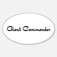 Giant Commander Oval Decal