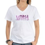 Make a Memory Women's V-Neck T-Shirt