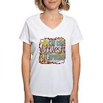 Littlest Big Brother Women's V-Neck T-Shirt