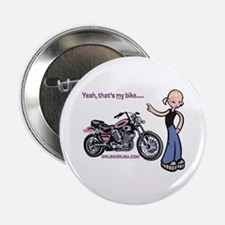 Girl Biker Button