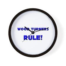 Wood Turners Rule! Wall Clock