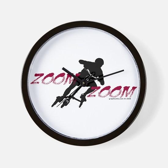 ZOOM ZOOM Wall Clock