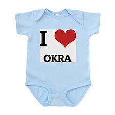 I Love Okra Infant Creeper