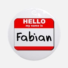 Hello my name is Fabian Ornament (Round)