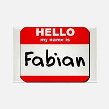 Hello my name is Fabian Rectangle Magnet