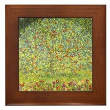 Gustav Klimt Art Framed Tile Apple Tree