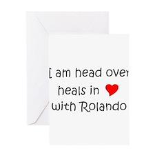 Funny I love rolando Greeting Card