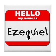Hello my name is Ezequiel Tile Coaster