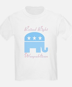 Weepublican Blue with Pink T-Shirt