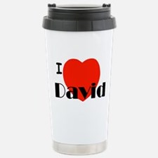 I Love David Stainless Steel Travel Mug