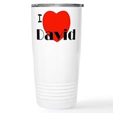 I Love David Travel Mug