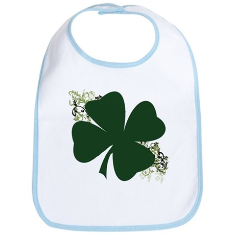Lucky Irish Clover Bib