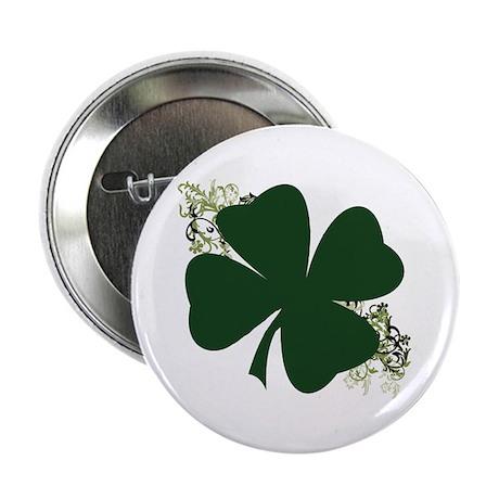 "Lucky Irish Clover 2.25"" Button"
