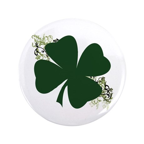 "Lucky Irish Clover 3.5"" Button"