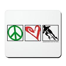 PEACE LOVE CARVE Mousepad