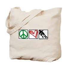 PEACE LOVE CARVE Tote Bag