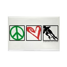 PEACE LOVE CARVE Rectangle Magnet (10 pack)