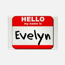 Hello my name is Evelyn Rectangle Magnet