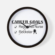 Registered Nurse Career Goals - Rockstar Wall Cloc