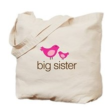 matching big sister t-shirt birdie Tote Bag