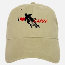 i (heart) to CARVE Baseball Baseball Cap