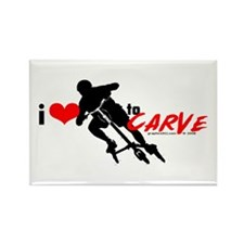 i (heart) to CARVE Rectangle Magnet