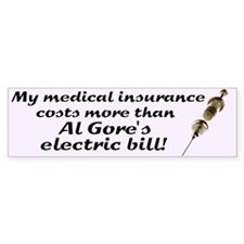 Medical Insurance Bumper Bumper Sticker