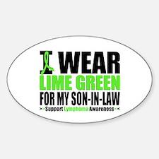 I Wear Lime Green Son-in-Law Oval Sticker (10 pk)
