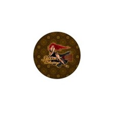 Samhain Blessings Witch Mini Button