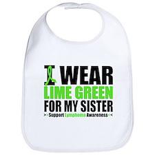 I Wear Lime Green Sister Bib